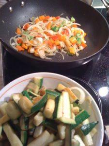gluten free rataouille, zucchini, eggplant