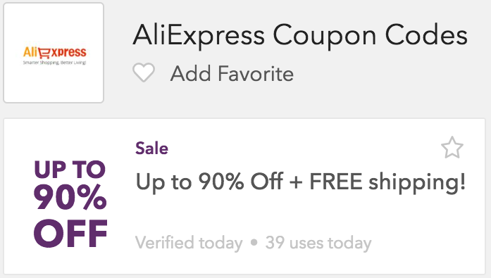 Alibaba Express Coupon Code